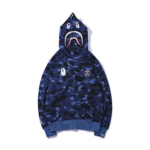 M2t Sweatshirt Fashion Outdoor Embroidery Pullover Zipper Winter Coat Baseball (XL, Blue) (Best Mens Outdoor Coats)