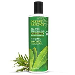 Desert Essence Tea Tree Replenishing Conditioner - 12.7 Fl Oz - Peppermint & Yucca - Eucalyptus Oil - Vitamin E - Keratin - Murumuru Butter For Dull, Damaged Hair - Reduces Hair Breakage & Flaking