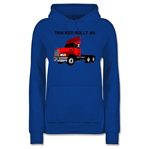 Shirtracer Trucker - Trucker Rollt an - Damen Hoodie Royalblau kB4jXo