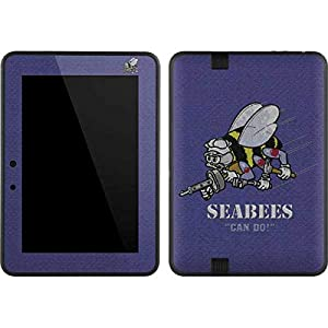 Skinit Seabees Can Do Kindle Fire HD 7 Skin - Officially Licensed US Navy Tablet Decal - Ultra Thin, Lightweight Vinyl Decal Protection by Skinit