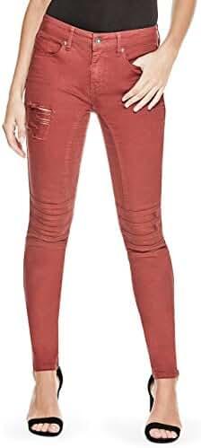 G by GUESS Women's Latasha Moto Skinny Jeans