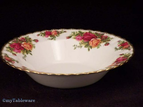Royal Albert Old Country Roses Rim Soup Bowls Set of 4 by Old Country Roses (Flowers Rim Bowl Soup)