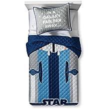 Star Wars Gray & Blue Twin Quilt Set