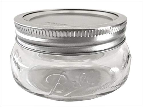 Ball Mason Jar-8 oz. Wide Mouth Squatty Collection Elite Series-One Jar ()
