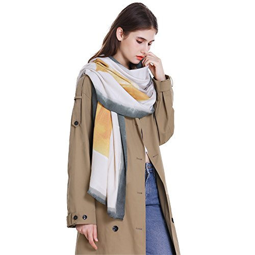 Women Pashmina Scarf Winter Wrap,RiscaWin Soft Oil Painting Scarf Fashion Long Cashmere Feel Shawl Warm Large Scarf(Ci Atrovirens) by RiscaWin