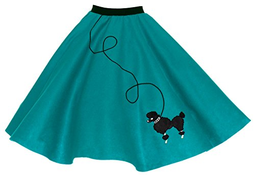 Hip Hop 50s Shop Adult Poodle Skirt Teal XL/2X