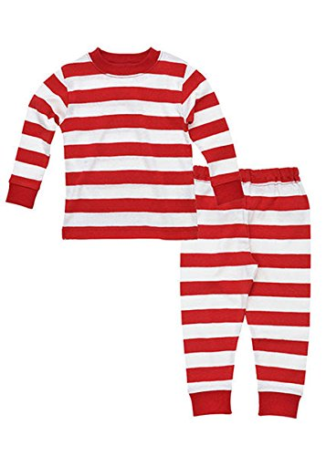 Under The Nile Pajamas (Rugby Kids Long Johns - Rugby Red - 2 Years)