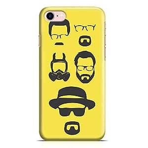 Loud Universe iPhone 8 Case Breaking Bad Case Heisenberg Faces Tv Show Transparent Edge Durable Wrap Around iPhone 8 Cover