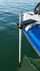 Mounts all standard transom mount transducers on the bow of your boat separate from the trolling motor. Trolling motors cut, twist and stretch transducer cables. This assembly removes the transducer from that monster. This is a direct mount b...