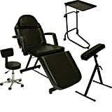 InkBed Tattoo Package Massage Table Chair Arm Bar Bed Tray Studio Salon Spa Equipment