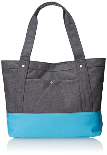(Everest Stylish Tablet Tote Bag, Charcoal, One)