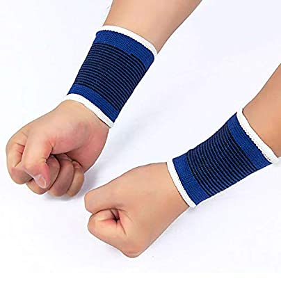 creatspaceDSF Palm Protecting Wraps Basketball Wrist Support Pair Sport Wristband Athlete Gym Strap Comfortable Volleyball Wrist Wraps blue Estimated Price -