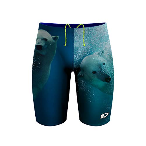 Q Swimwear Polar Bear Swim Jammers for Men, Polyester Mens Jammer Swimsuit, Competitive Swimsuits for Men, Swim Jammers, Multiple Colors, Polyester Jammers, Men Swimwear Jammers (36)