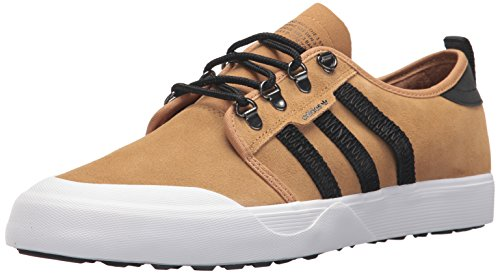 adidas Originals Men's Seeley Outdoor Sneaker, Mesa/Black/White, 10.5 M US by adidas Originals