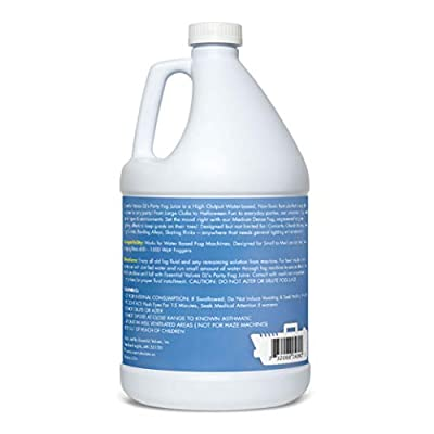 Essential Values DJ's Party Fog Juice (128 FL OZ / 1 Gallon) - Produces Long Lasting Medium Fog for Water Based Foggers, Perfect for 400 Watt to 1500 Fog Machines - MADE IN USA from Essential Values