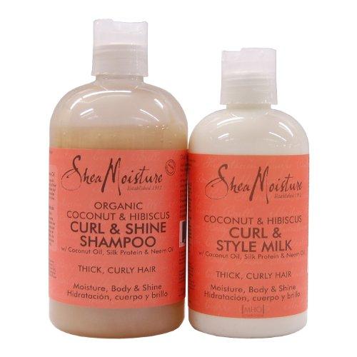Shea Moisture ORGANIC Coconut & Hibiscus Set - Shampoo + Sty