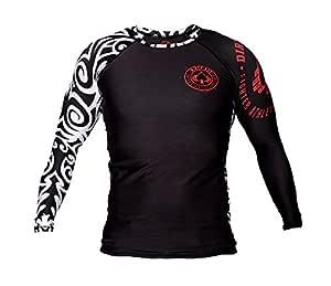 Dirty Ray Tribal NZ All Black camiseta rashguard manga larga ...