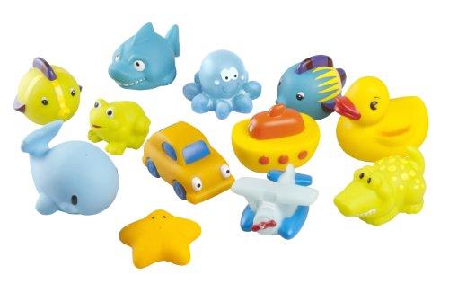 Babymoov-A104920-Juguetes-para-bao-12-piezas-tonos-azules-y-amarillos