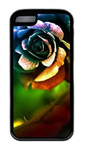 ..Roses FinishFor Ipod Touch 4 Case Cover (Flowers Series, Watercolor style, White)