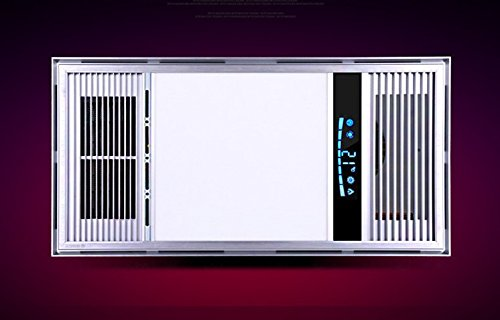 Heating blowing ventilation LED light in the bathroom to take a shower display real temperature on the screen
