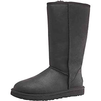 womens ugg womens classic tall tasman boots black black white rh amazon co uk