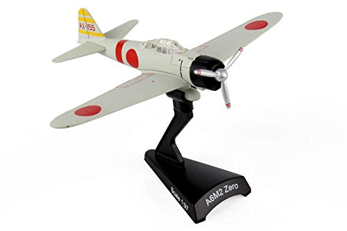 Postage Stamp Planes - Daron Postage Stamp PS5343-3 Mitsubishi A6M Zero Ijnas Carrier Akagi 1941 1:97 Scale Diecast Display Model With Stand