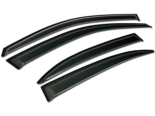 (S&T Racing Sun/Rain Guard Smoke Deflector Window Visors 4P 13 14 15 for Chevy Malibu)