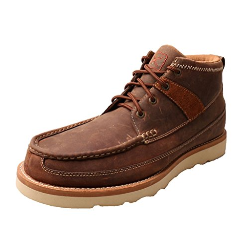 Twisted X Boots Mens Wedge Casuals 9 M Oiled Saddle