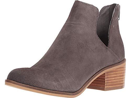 Steve Madden Women's Lancaster Western Boot, Grey Suede, 7 M US (Steve Madden Ankle Boots)