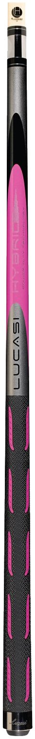 Lucasi Hybrid L-H20 Original Ultra Pink and Metallic Silver Golf Style Technology Cue, 18-Ounce