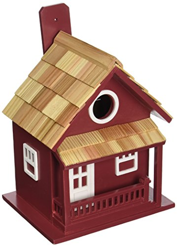 Home Bazaar HB-7028RS Little Cabin Birdhouse, Red (Wren Kit Yourself)