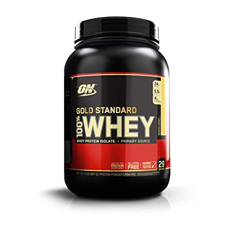 OPTIMUM NUTRITION GOLD STANDARD 100% Whey Protein Powder, Banana Cream, 2 Pound