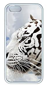 White Tiger - iPhone 5S Case Funny Lovely Best Cool Customize White Cover by Maris's Diary