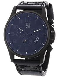 Luminox Men's 1881.BO Black Leather Swiss Quartz Watch with Black Dial