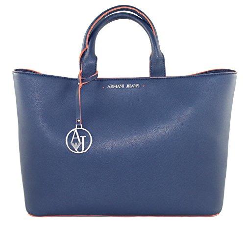 Armani Jeans  0523D, Cabas pour femme Bleu bleu B 42 x H 29 x T 12