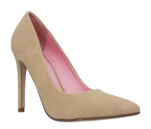 MVE Shoes Women's Pointed Toe Pumps Shoes, Nat NBPU Size - Sexy Nat