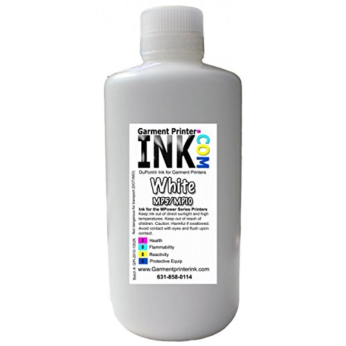 DuPont Bulk Liters for the Anajet mPower MP5 and MP10 , White by Garment Printer Ink