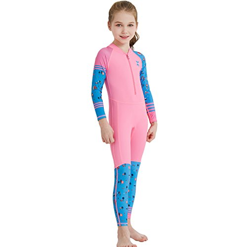 aa94099fe135 Dark Lightning Kids Wetsuit, 2mm Neoprene Thermal Swimsuit, One Piece Wet  Suits for Fishing,Scuba Diving, Rash Guard Full Suit Swimsuit Kids (Girl's  ...