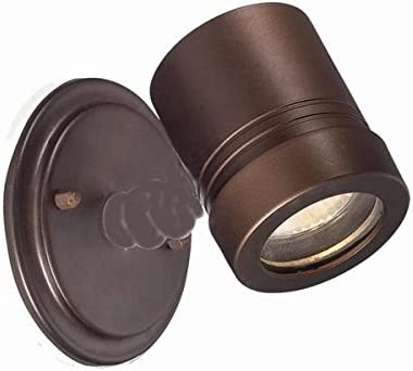 Acclaim 7690ABZ Cylinders Collection 1-Light Wall Mount Outdoor Light Fixture, Architectural Bronze