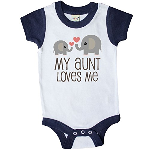 inktastic - My Aunt Loves Me Gift Infant Creeper 6 Months White and Navy 230e8 -