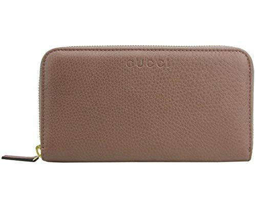 Gucci Zip Around Tan Leather Long/Continental Wallet With Logo 363423 6820