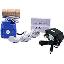 E-SDS Water Leak Detector with Shutoff Valve,Sensors and Sounds Alarm,Automatic Water Leak Shut Off Valve System,for Pipes 3/4 NPT,Flood Prevention for Laundry,Water Heaters and More