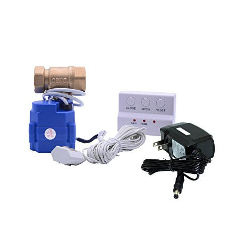E-SDS Water Leak Detector with Shutoff Valve,Sensors and Sounds Alarm,Automatic Water Leak Shut off Valve System,For Pipes 3/4 NPT,Flood Prevention for Laundry,Water Heaters and More (Water Shut Off Valve Location)