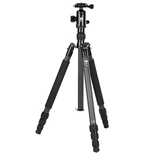 Sirui T-024X Traveler Light Carbon Fiber Tripod with C-10S Ball Head, 13.2 lbs Capacity, 58'' Height, 4 Leg Sections by Sirui