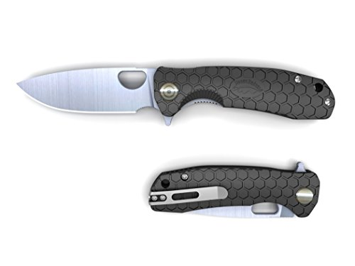 Western Active Honey Badger Folding Lock Knife Ball Bearing Flipper 8cr13MOV Steel Deep Pocket Carry Clip Gift Box with Torx Wrench (Black, Large 3.98oz - 4.6