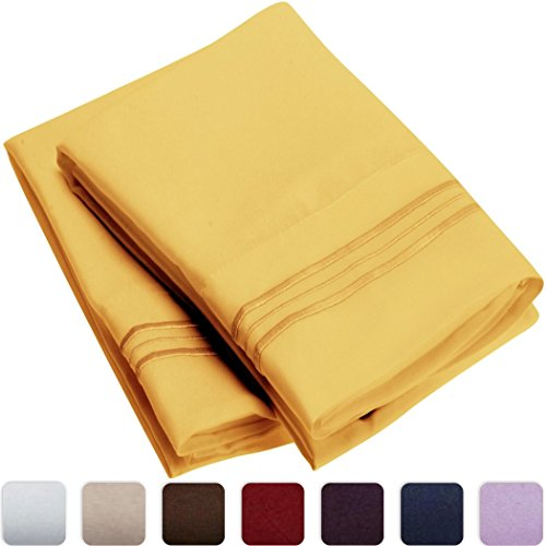 Mellanni Luxury Pillowcase Set - HIGHEST QUALITY Brushed Microfiber 1800 Bedding - Wrinkle, Fade, Stain Resistant - Hypoallergenic