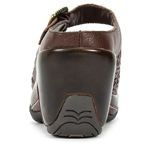 White Mountain Miso' Women's Leather Mule Dark Brown discount codes really cheap cheap sale best sale geniue stockist online x3sMwptDgA