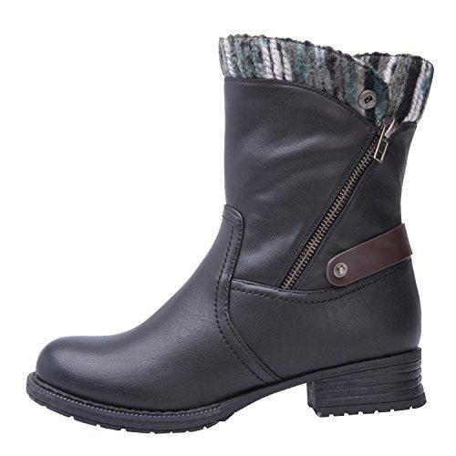 Global Win Globalwin Dames Kadimaya16yy26 Boots Zwart
