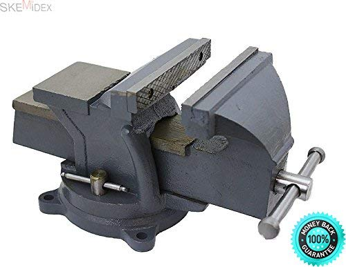 "SKEMi-Clamp on Vise Harbor Freight Trigger Clamps Home Depot Bench Vise Vise Grip Clamps bar Clamps c clamp Lowes and 6"" Bench Vise Clamp Tabletop Vises Swivel Locking Base Work Bench Top Anvil"