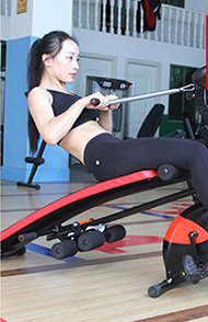 Multi Functional Home Fitness Machine Core Toning Exercise Equipment, 7 in 1, AB Glider, Exercise Bench, Exercise Bike, LCD Display, and Pulse Reader by Joyfay (Image #3)